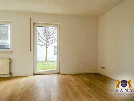 Single-Apartment mit Einbauküche · Erdgeschosswohnung mit Terrasse & Garage