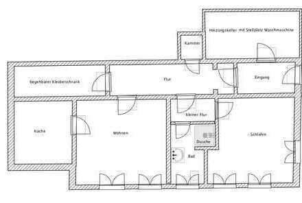 Attraktive 2-Zimmer-Wohnung mit Einbauküche in Aschaffenburg