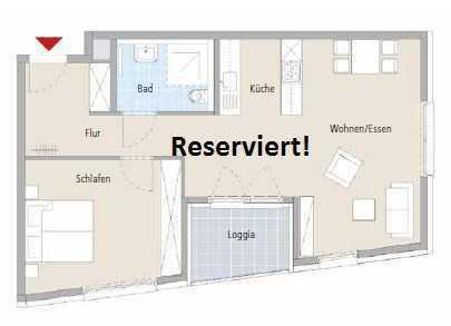 Sonnige 2-Zimmer-Wohnung im betreutem Wohnen