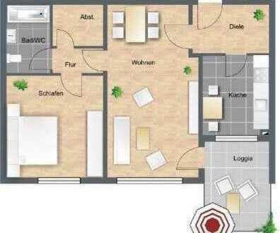 Exklusive, modernisierte 2-Zimmer-Wohnung mit Balkon und Einbauküche in Frankfurt am Main