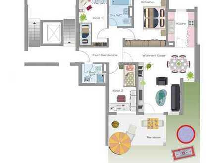 Schöne 4 Zimmer-Gartenwohnung - 4 min zum Bahnhof!!!