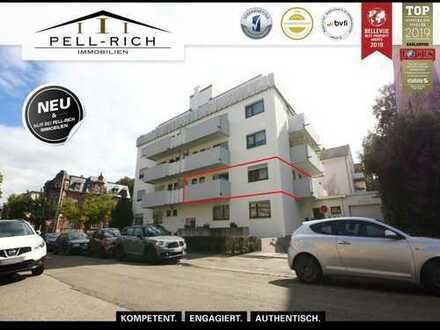 ZENTRUMSNAH: Sofort verfügbare, helle Bürofläche mit drei Balkonen und TG-Stellplatz