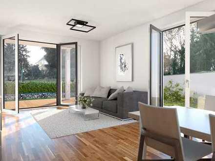 Stilvolle 1-Zimmer-Wohnung mit großzügiger Terrasse und Gartenanteil