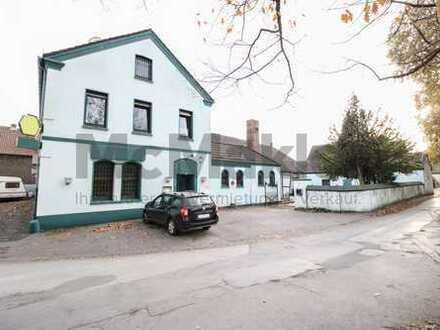 Eigenes Gewerbe oder Kapitalanlage - Gaststätte mit Lagerhalle, Büro u. Wohnung in Duisburg-Bergheim