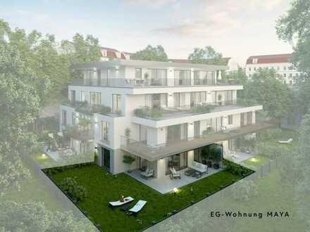 Luxus EG-Wohnung MAYA * Ruhe in Mitten der Stadt * Großer Garten