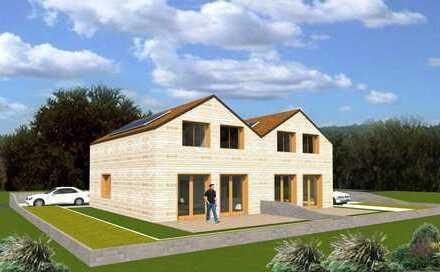 Neubau/ Hinterbebauung Doppelhaushälfte mit Teilkeller und Klinker
