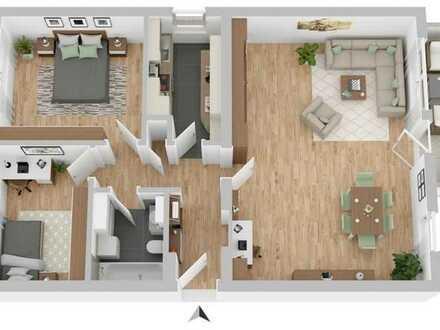 helle klimatisierte 3 Zimmer Wohnung 83,76 qm in Wü/Lengfeld mit Blick ins Grüne, sofort verfügbar
