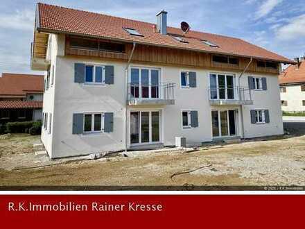 3- Zimmer Neubau Etagenwohnung mit Südbalkon in Oberostendorf zu vermieten