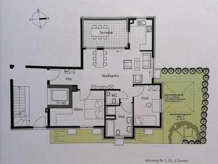 Gepflegte 3-Zimmer-Wohnung mit Balkon und EBK in Weinstadt