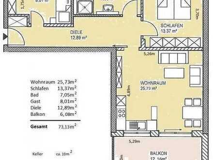 Schöne, barrierefreie, neuwertige 3-Zimmer-Wohnung mit Süd-Balkon in Landsberg am Lech