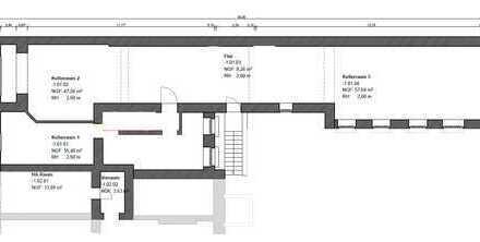 150m2 Gewerbekeller zu verkaufen. 2,6m Deckenhöhe, trocken, eigener Eingang.