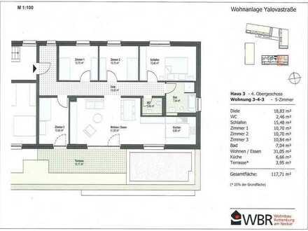 5-Zimmer-Wohnung über den Dächern der Stadt!