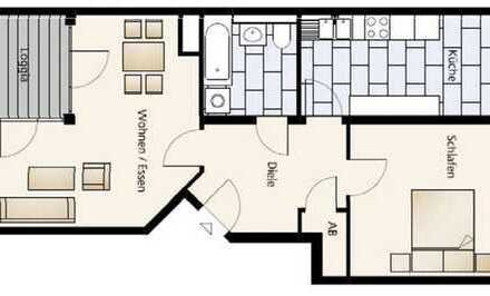 Schöne 2-Zimmer-EG-Wohnung mit Einbauküche und Balkon in Mariendorf (Tempelhof), Berlin