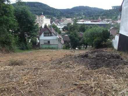 Bauplatz in Südhanglage mit Blick auf Murrhardt