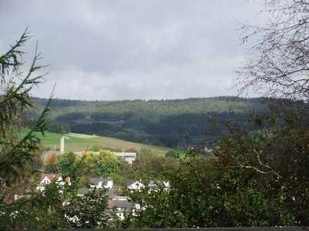 Geräumige Baulücke in BÜSCHERGRUND, am Wald mit schönem Weitblick; auch für ein MFH geeignet !!