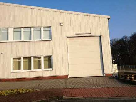 Gepflegtes, modernes Werkstatt- und Lagergebäude mit Büro und WC im Gewerbegebiet