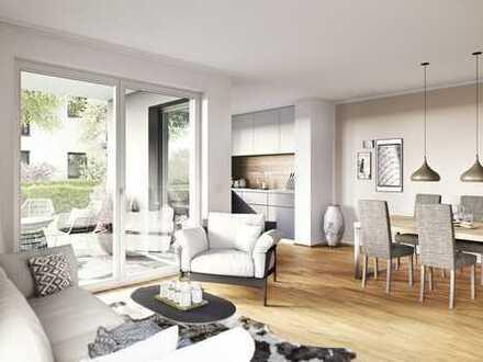 Neubau: Barrierefreie 3-Zimmer-Erdgeschosswohnung mit Süd-West-Garten