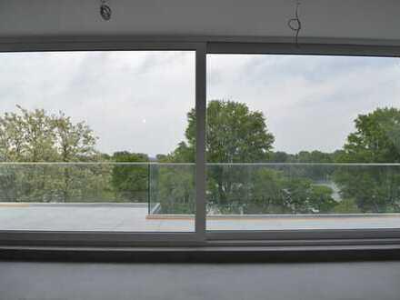 Rhein Blick, Exklusive, geräumige 3,5-Zimmer-Maisonette-Wohnung mit Grosser Terasse und Einbauküche
