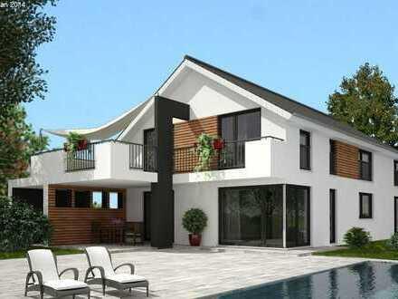 Modernes freistehendes Zweifamilienhaus massiv und schlüsselfertig gebaut, individuell planbar.