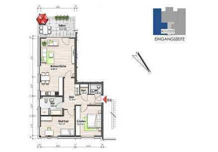 Etagenwohnung mit Balkon (Nr. 4)