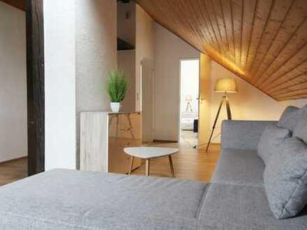 TOP sanierte 3 Zimmer- Maisonettewohnung + komplett möbliert + EBK + Internet 100Mbit