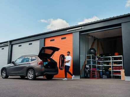 Moderne 28-112m² Garagen, Lager & Hallen mit Strom mieten   24/7-Zugang