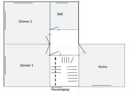 Gepflegte 2-Zimmer + Wohnküche in Erlensee (Rückingen)