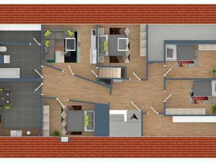 Kompl. modernisierte 5 Zimmer-Eigentumswohnung in nur 3-Parteienhaus von Herxheim