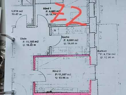 2 Zimmer in 2er Terassen WG im Nordpark Chemnitz, Hochbett inkl. Neuw. Matratze, sowie möbiliertes