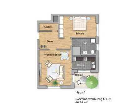 Großzügige 2-Zimmer-Eigentumswohnung in der Neuen Ortsmitte