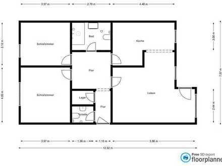 Helle und moderne 3 Zimmer Erdgeschosswohnung in ruhiger, zentraler Stadtlage in Bad Saulgau - Frei