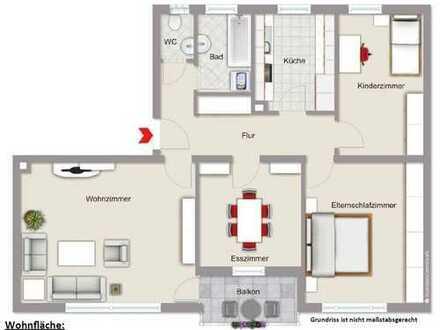 Schöne 4-Zimmer-Wohnung mit Balkon und Einbauküche in Dillingen an der Donau