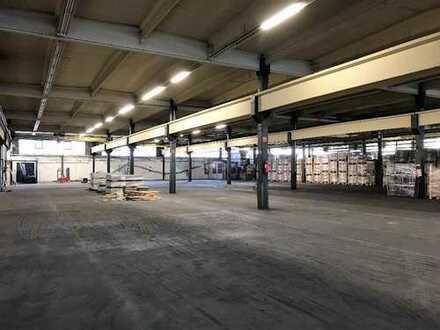 Halle 2500 m², 3 Kranbahnen, Stellplätze, ab sofort
