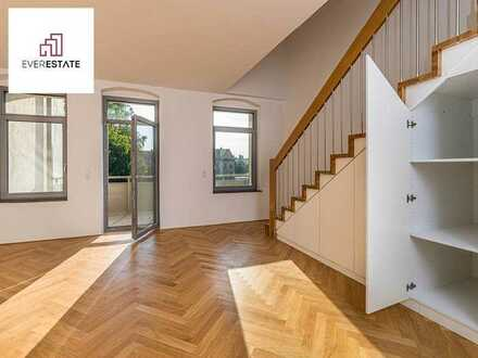 Vermietet: Luxuriöse Maisonette-Wohnung mit großem Ost-Balkon