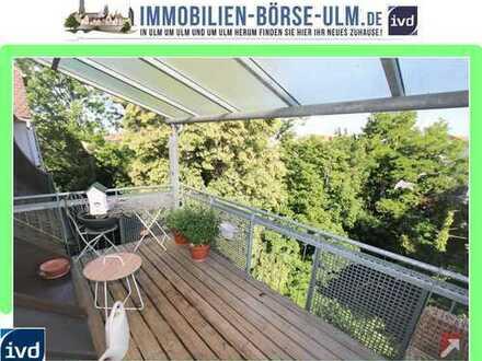 Aussergewöhnliche Maisonette mit Münsterblick an der Donau