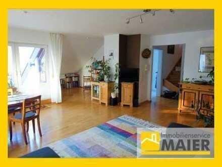 Besonderheit in begehrter Lage - 3,5 bis 4,5 Zimmer-Maisonette-Wohnung mit Balkon und Tiefgarage!