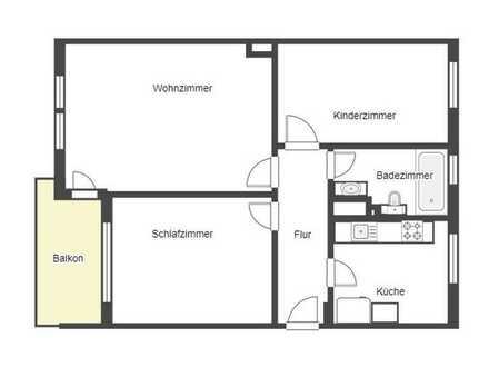 Komfortabel wohnen im Dortmunder Westen: Moderne 3-Zi.-ETW mit Balkon in gepflegtem Wohnhaus