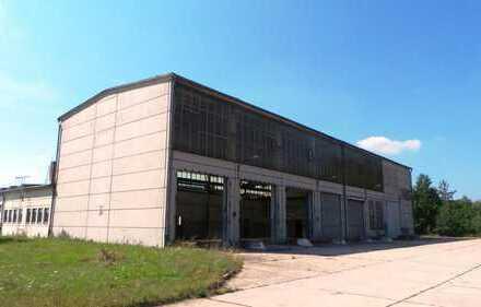 Hallen ab 40m² bis 1600m² für Gewerbe und privat, z.T. mit LKWs befahrbar ; Logistikfläche
