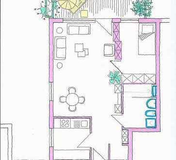 S-Möhringen, ruhige 2-Zi-Wohnung mit EBK, Balkon und TG, verkehrsgünstig gelegen