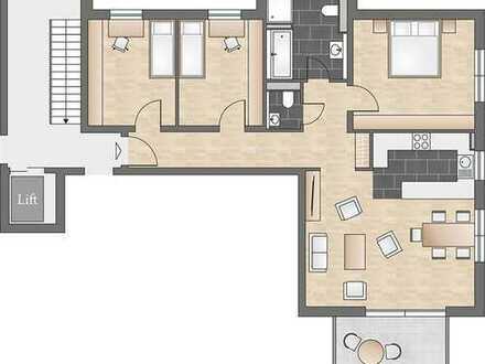 Durchdachte 4-Zimmerwohnung mit offener Küche, Gäste-WC und Balkon