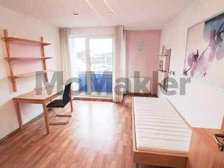 Gut an Studenten vermietbar: 1-Zi.-Apartment mit Balkon inkl. Stellplatz - Nähe Universität und HTW