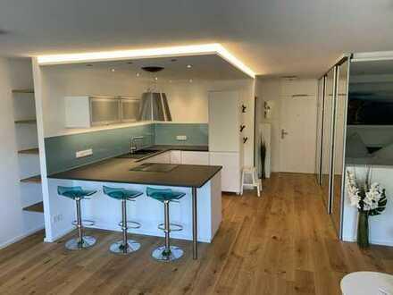 Luxus Wohnen auf Zeit 49m² Appartement Neckarpromenade Mannheim, löffelfertig, Stellplatz WLAN