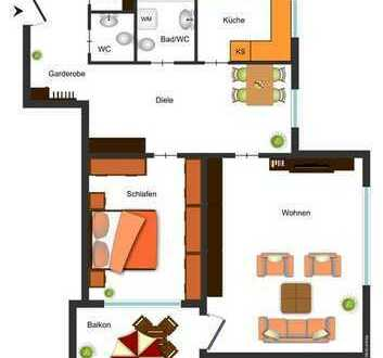 Renovierungsbedürftige 2½ - Zimmerwohnung mit guter Raumaufteilung