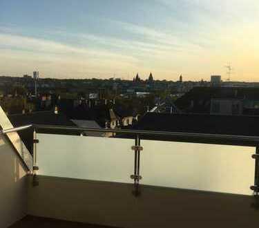 Penthaus mit Blick über Mainz