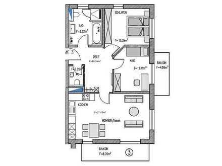 Erstbezug: Exklusive 3-Zimmer Wohnung in Deisenhofen