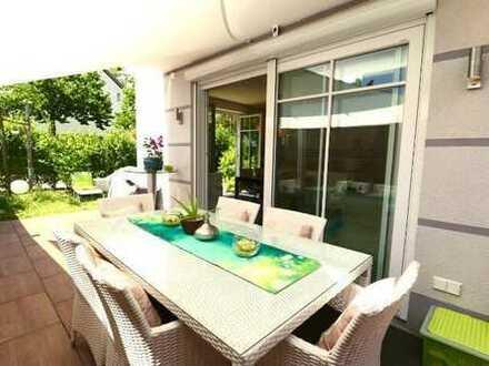 5 Zim.-Garten-Wohnung * Wohlfühloase mit Süd-West-Terrasse *