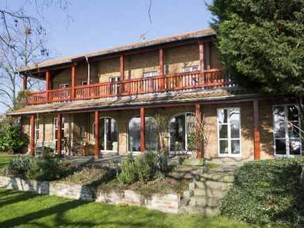 Großzügiges Einfamilienhaus mit schönem Garten und direktem Rheinblick