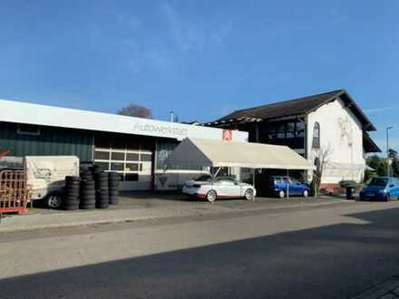 Vielseitig nutzbare Gewerbehalle/Werkstatt mit großzügigem 3-Familienwohnhaus