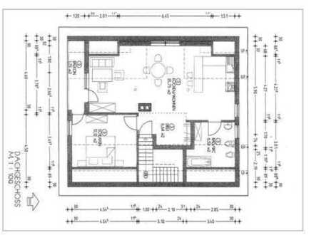 Schöne 2,5-Zimmer-DG-Wohnung mit Balkon und Einbauküche in Illertissen