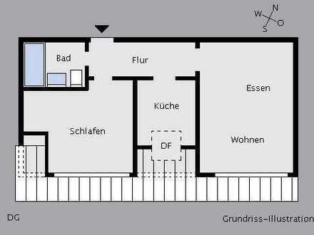 Vermietete 2-Zimmer-Dachgeschosswohnung - ruhig & zentral